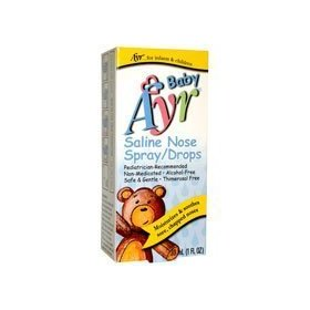 Ayr baby's saline nose spray, drops 1 fl oz (30 ml)