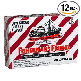 Fisherman's friend low sugar cherry  cough suppressant lozenges, 38-count boxes (pack of 12)
