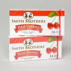 Smith brothers throat drops with vitamin c, wild cherry flavor - 14 drops / bag, 20 bag / case
