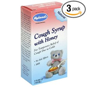 Hyland's cough syrup with honey, 4-ounce (120 ml) (pack of 3)