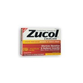 Zucol coldcare 18 rapid dissolve homeopathic lozenges orange creme flavor