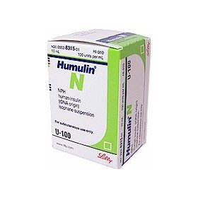 Lilly humulin n insulin u-100 - 10 ml vial