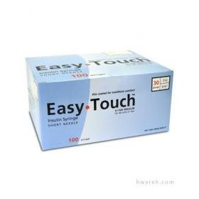 Easy touch insulin syringe 30 g, .3 cc, 5/16
