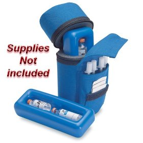 Medicool insulin protector diabetic insulin carry case color blue