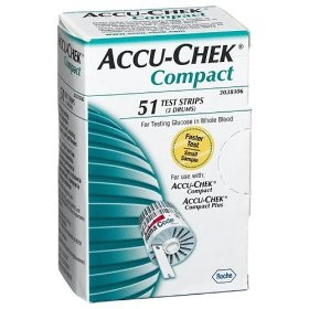 Accu-chek compact test strips, 51-count box