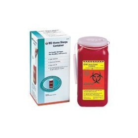 Bd home sharps container for insulin syringes and lancets - 1 ea