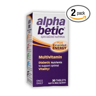 Alpha betic once-a-day multi-vitamin supplement, 30 caplets (multi-pack)