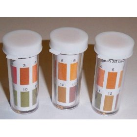 Ph paper testing strips - wide range (1-14) 100 strip vials x 3 (300 strips total)