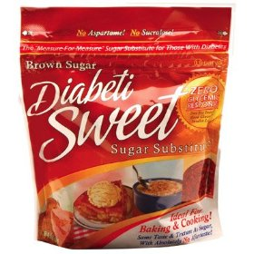 Diabetisweet brown sugar substitute - three 16 oz. packs