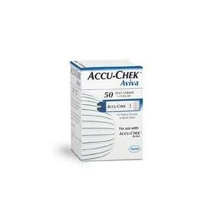 Accu-chek aviva test strips, 50/box