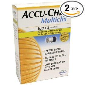 Accu-chek multiclix lancets, 102-count boxes (pack of 2)