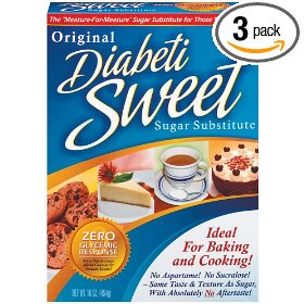 Diabetisweet sugar substitute, original, 16-ounce boxes (pack of 3)