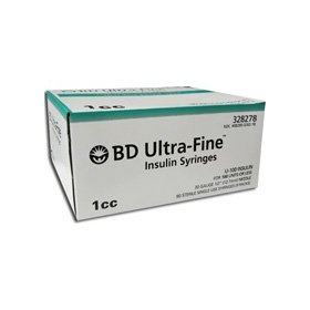 Bd syringes ultra-fine 30g; 1cc; 90ct; 12.7mm (1/2 in)