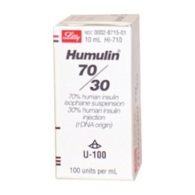 Humulin 30/70 insulin u 100 10 ml vial