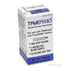 Trueread diabetic test strips - 50 strips (retail)