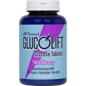 Glucolift all-natural non gmo glucose tablets- wildberry flavor