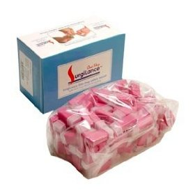 Surgilance one step self retracting lancet pink 2.8mm 100/box