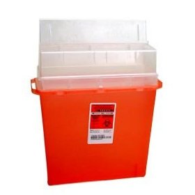 Sharps container biohazard needle disposal 5 quart size