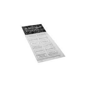 Self adhesive spice label set - 48 pc,(frontier)