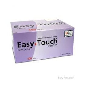 Easy touch u100 insulin syringe - 28 gauge 1/2