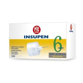Pic insupen diabetic pen needles 31g 6mm 100/bx