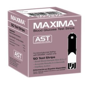 Maxima blood glucose test strips