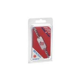 Emerg alert medical alert emergency id bracelet and wallet card -