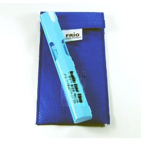 Frio duo pen cooling wallets keep insulin safe between 60 -70 degrees for up to 45 hours with no refrigeration +(free syringe case a 3.98 value)