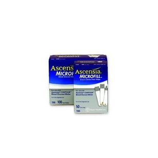 >microfill test strips bx100. bayer's contour blood glucose test strips