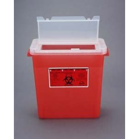 3 gallon sharps container/large opening lid - red