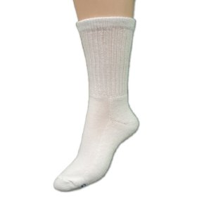 Medipeds diabetic crew socks white large 2 pair value pack