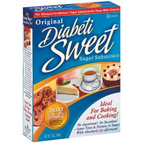 Diabetisweet sugar substitute - three 16oz. packs