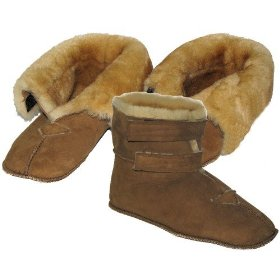 Diabetic adjustable sheepskin pair of mens slippers (made in usa) - wooly bully #slipdimn