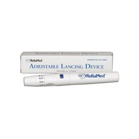 Reusable lancet device with adjustable depths for skin puncture