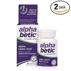 Alpha betic alpha lipoic acid, for people with diabetes, 60 capsules (pack of 2)