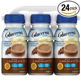 Glucerna shake rich chocolate, 8 ounce bottles (pack of 24)