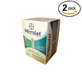 Bayer's microlet lancets, single use, 100 lancets (pack of 2)