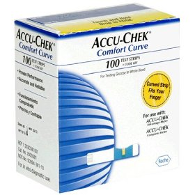 Accu-chek comfort curve test strips, 100 count box