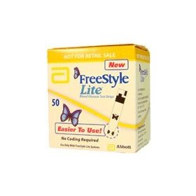 Freestyle lite blood glucose test strips new butterfly design box of 50
