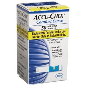 Accu-chek comfort curve mail order test strips, 50-count box