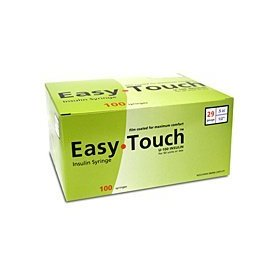 Easytouch insulin syringe 29 g, 1 cc, 1/2 in.100/box