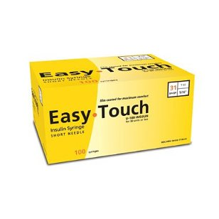 Easy touch insulin syringe 31 g, 1 cc, 5/16 in.100/box