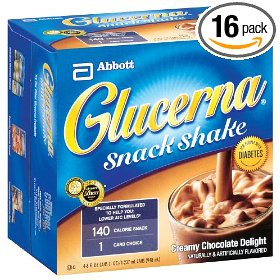 Glucerna snack shake, creamy chocolate delight (pack of 16)