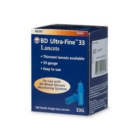 Bd ultra-fine 33 guage lancets - 100 count box
