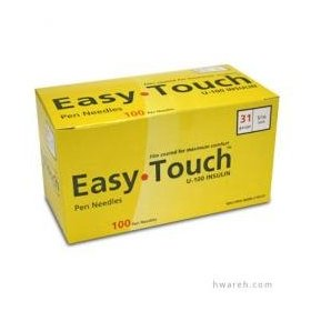 Easy touch pen needles 31 g, n/a, 5/16 in.100/box