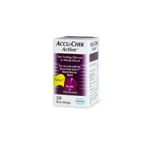Accu-chek active test strips for blood glucose - 50 ea