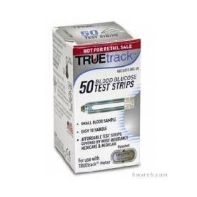 Truetrack blood glucose test strips box of 50