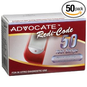 Advocate redi-code test strips, 50 ct