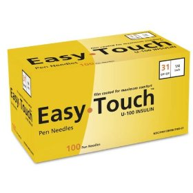 Easy touch pen needles 31 g, n/a, 3/16 in.100/box