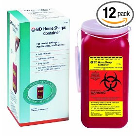 Bd sharps container 1.4 quart home, 5.44 packages 12-count